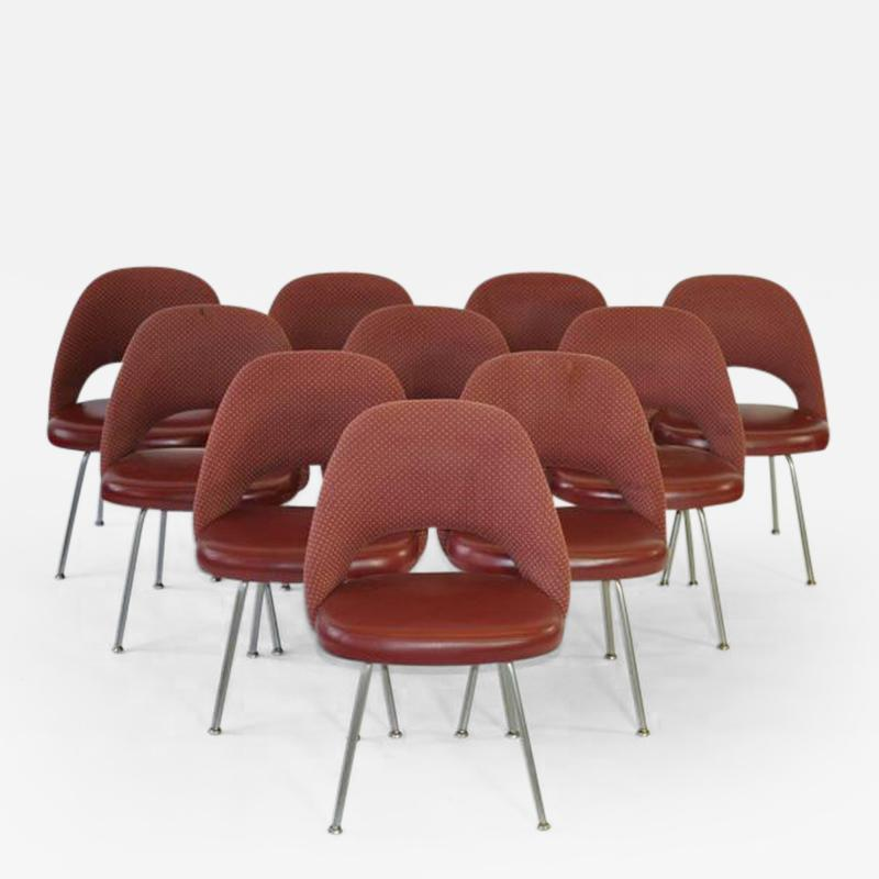 Eero Saarinen Set of Ten Vintage Eero Saarinen Chairs for Knoll