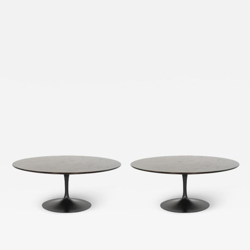 Eero Saarinen Set of Tulip Cocktail Tables in Oak by Eero Saarinen for Knoll 1960s