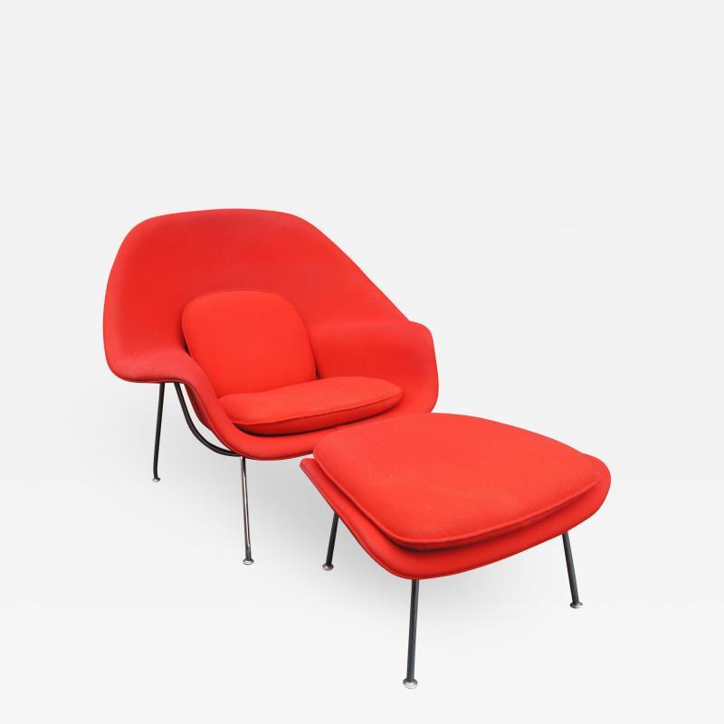 Eero Saarinen Womb Chair and Ottoman by Eero Saarinen for Knoll