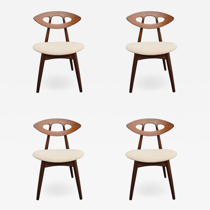 Ejvind A Johansson Set of Four Teak Eye Chairs by Ejvind A Johansson for Ivan Gern M belfabrik