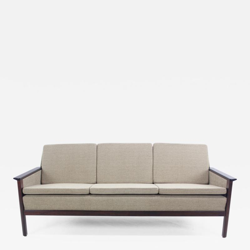 Elegant Danish Modern Sofa with Rosewood Frame