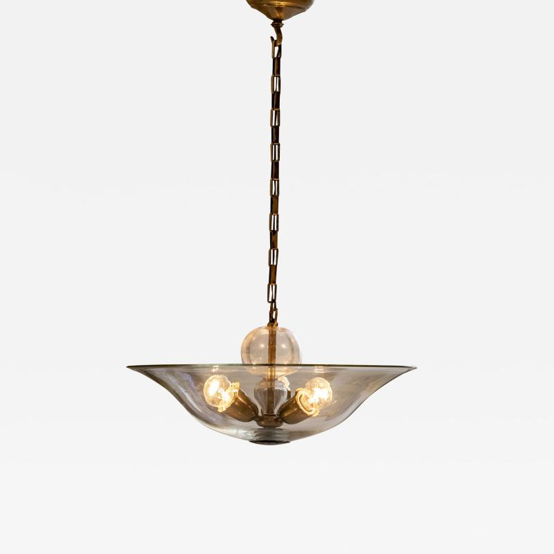 Elegant Glass and Brass Pendant