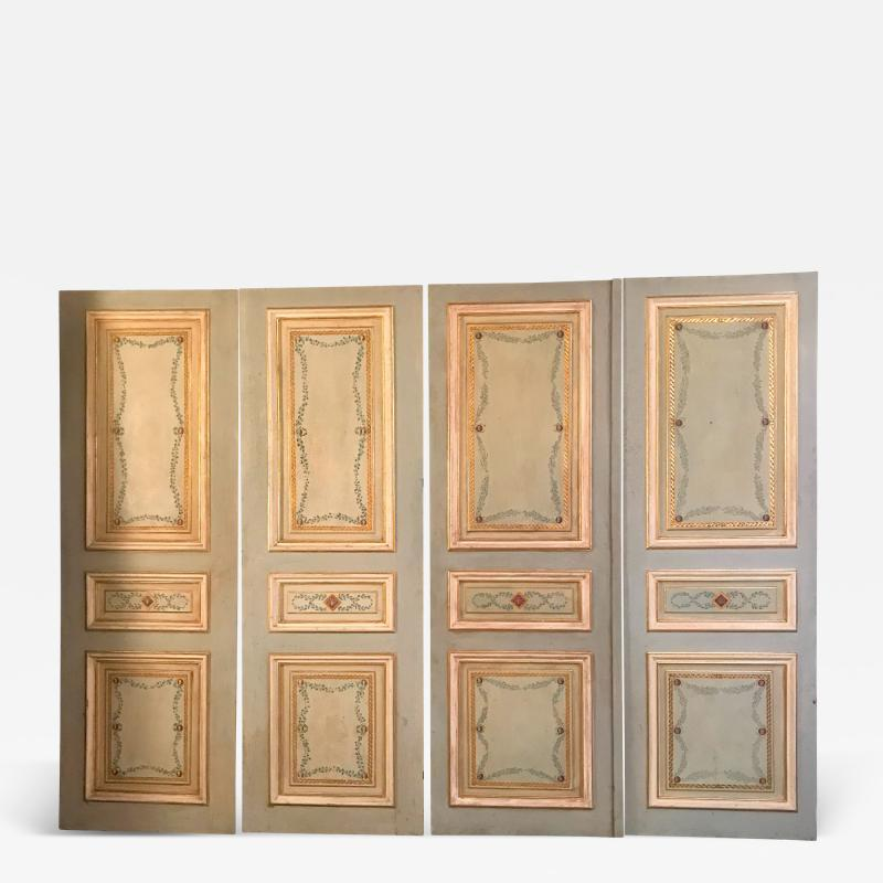 Elegant Pair of 19th Century Italian Painted Doors or Panelling