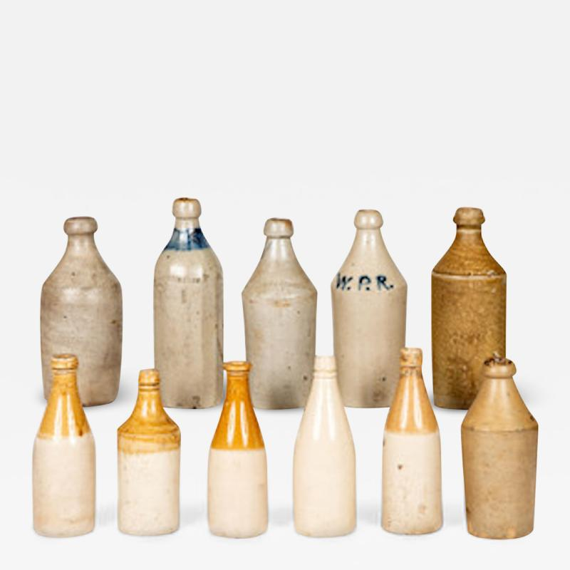 Eleven Early American Stoneware Bottles