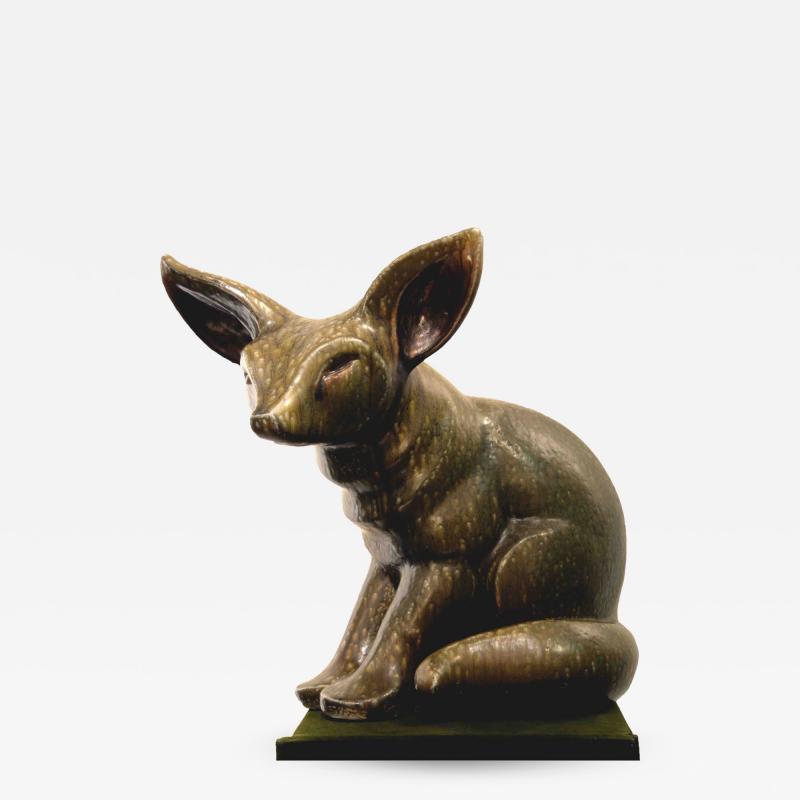 Elfriede Balzar Kopp Fox Fennec sculpture by Elfriede Balzar Kopp circa 1955