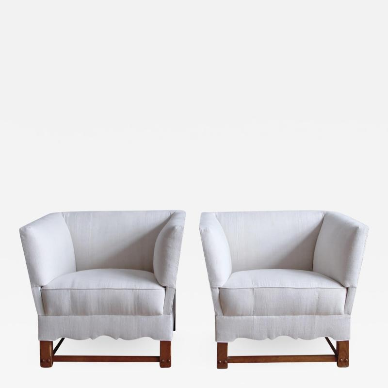 Elias Barup Rare Pair of Chairs from The Spanish Set by Elias Barup
