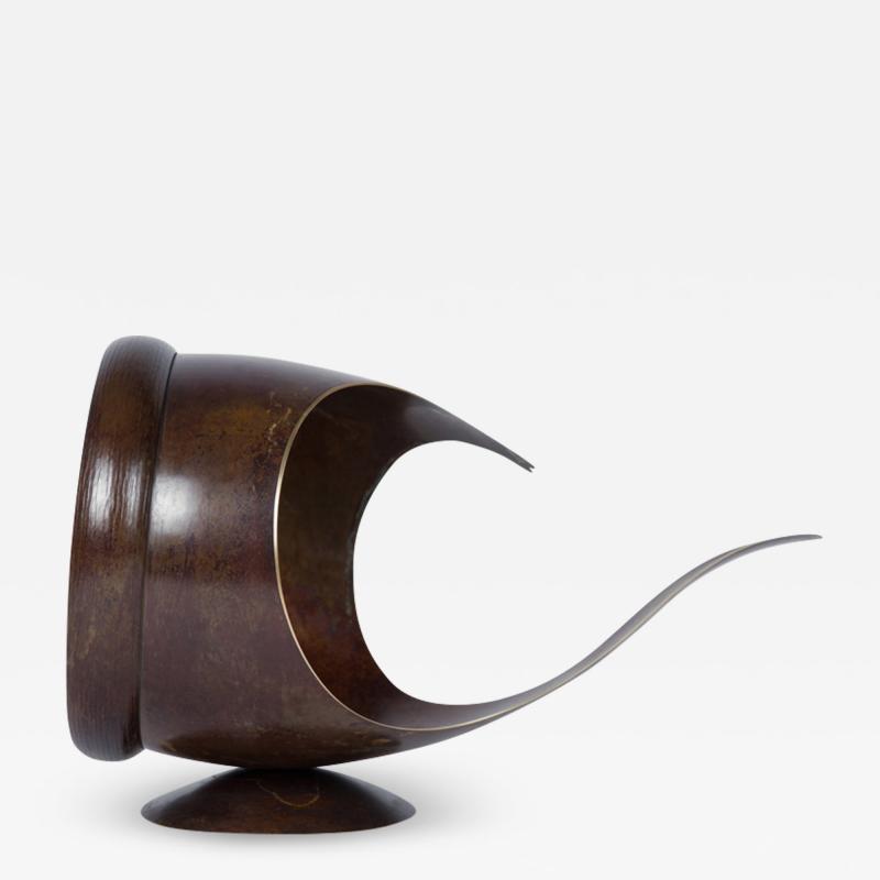 Elie Hirsch TELL IT Hammered brass sculpture