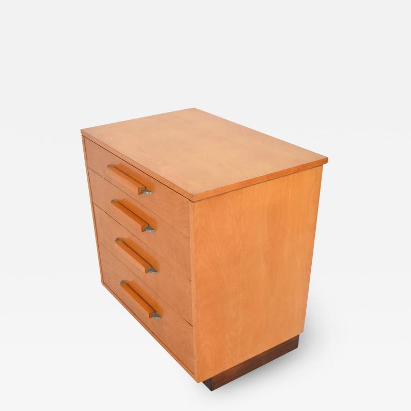 Eliel Saarinen Eliel Saarinen Short Blonde Birch Dresser Classic Art Deco Johnson Co 1940s