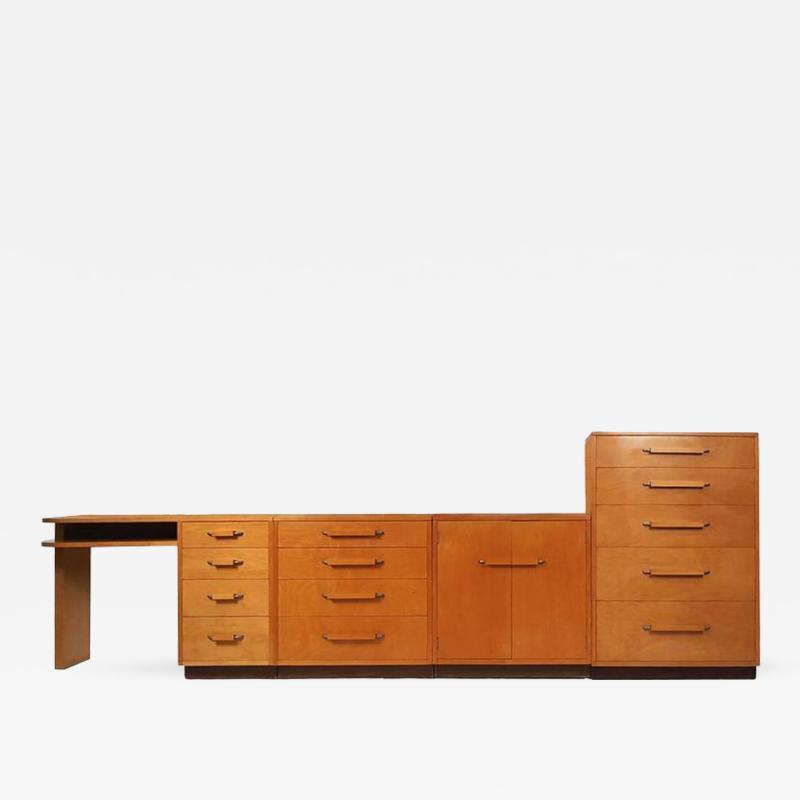 Eliel Saarinen Flexible Home Arrangement Modular Birch Cabinet System by Eliel Saarinen