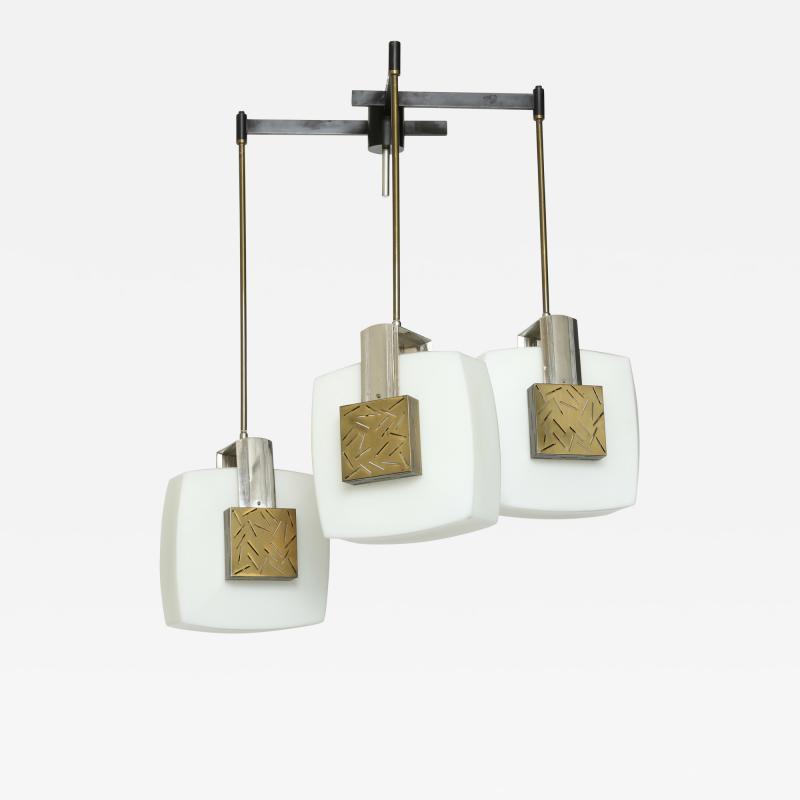 Elio Monesi Elio Monesi for Arredoluce chandelier