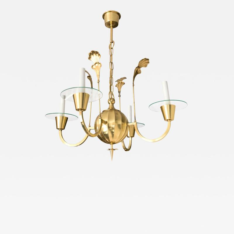 Elis Bergh 4 ARM CHANDELIER BY ELIS BERGH FOR C G HALLBERG