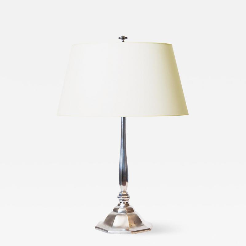 Elis Bergh Fine and Faceted Art Deco Lamp by Elis Bergh Herman Bergmans Konstgjuteri