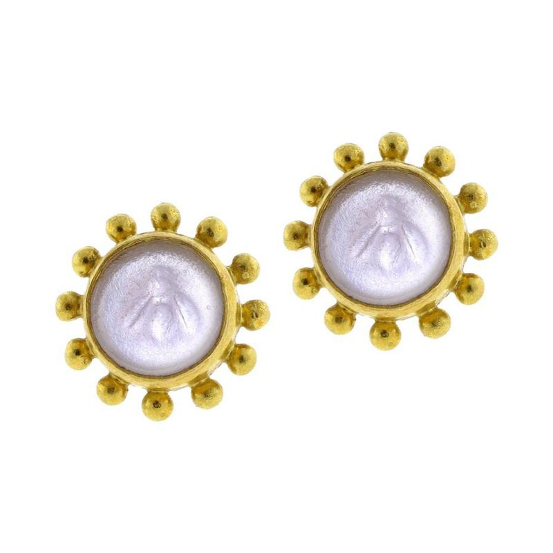 Elizabeth Locke Elizabeth Locke Bumble Bee Earrings
