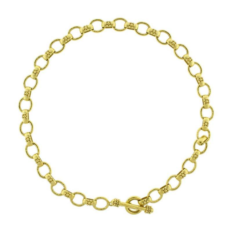 Elizabeth Locke Elizabeth Locke Hammered Oval Link Necklace