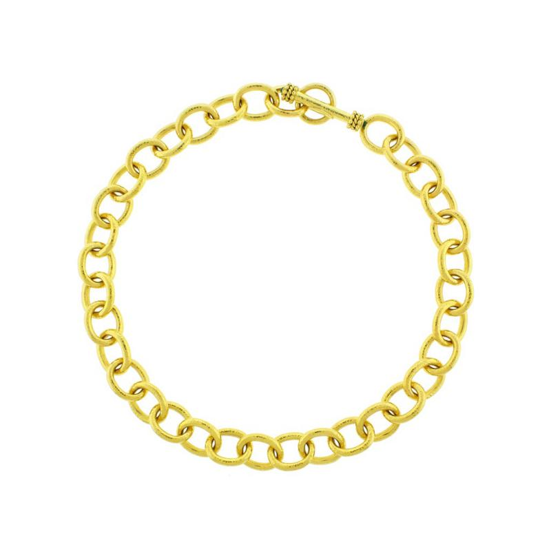 Elizabeth Locke Elizabeth Locke Hammered Volterra Link Necklace
