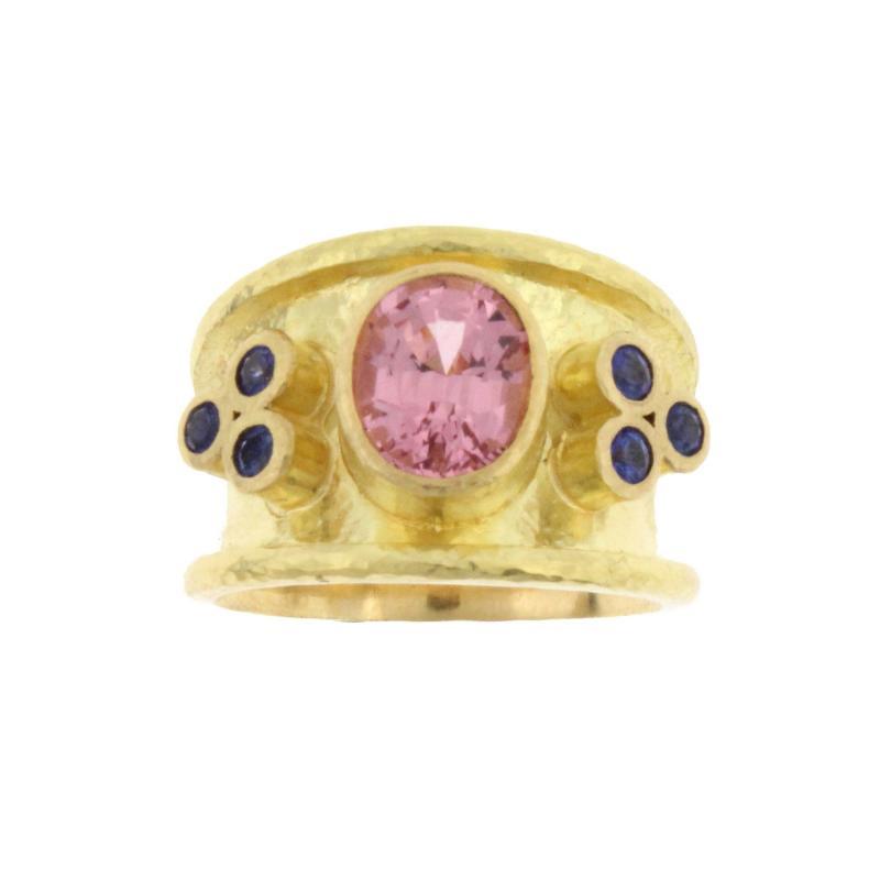 Elizabeth Locke Elizabeth Locke Pink Spinel Sapphire Gold Ring