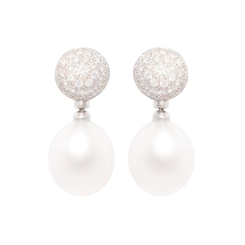 Ella Gafter Ella Gafter Australian South Sea Pearl Diamond Earrings
