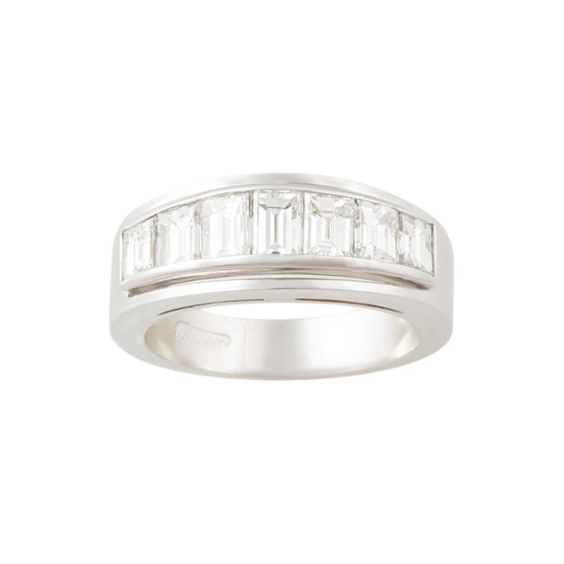 Ella Gafter Ella Gafter Baguette Diamond White Gold Band Ring