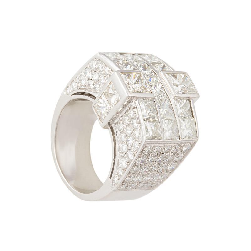 Ella Gafter Ella Gafter Gold and Diamond Cocktail Ring