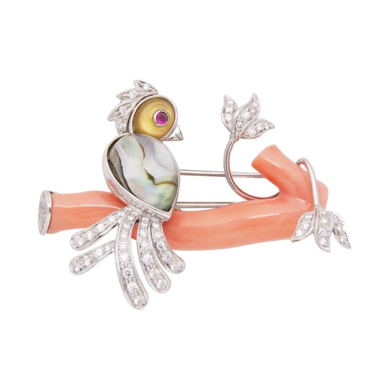 Ella Gafter Ella Gafter Love Bird Diamond Brooch Pin