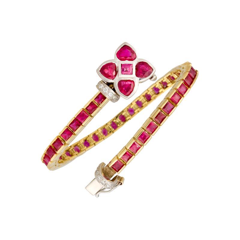 Ella Gafter Ella Gafter Ruby and Diamond Bracelet
