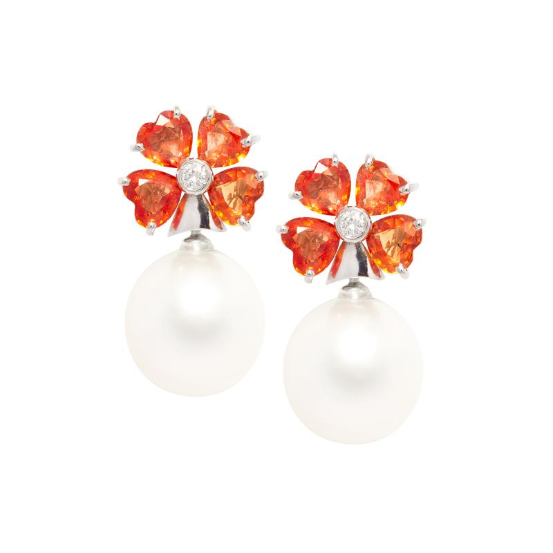 Ella Gafter Ella Gafter Sapphire South Sea Pearl and Diamond Earrings