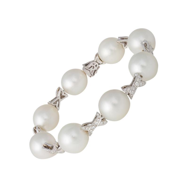 Ella Gafter Ella Gafter White South Sea Pearl and Diamond Bracelet
