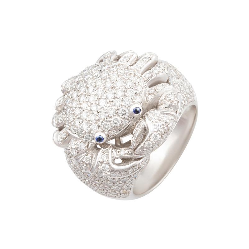Ella Gafter Ella Gafter Zodiac Cancer Ring with Diamonds