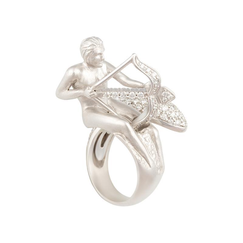 Ella Gafter Ella Gafter Zodiac Sagittarius Ring with Diamonds