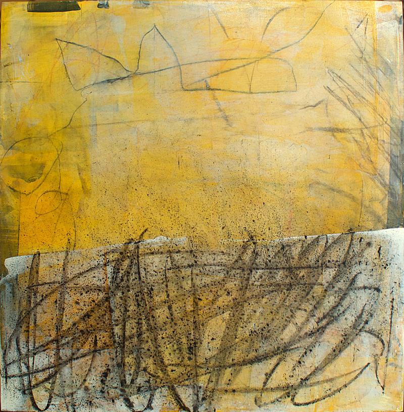 Elliot Twelvetrees American Modern Abstract Expressionist Mixed Media on Board Elliot Twelvetrees