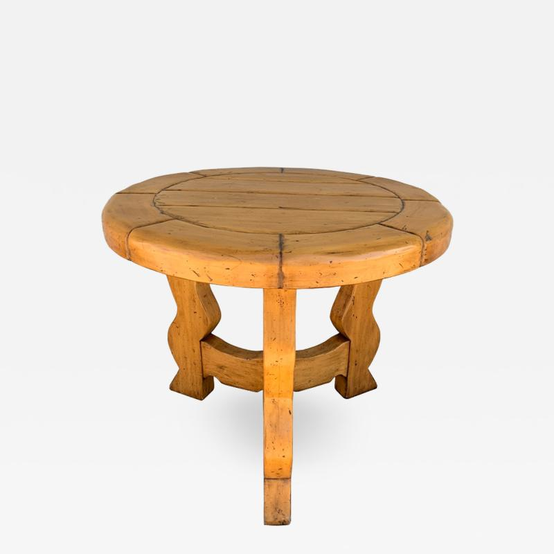 Ellis Woods Mission Style Round Table by Ellis Woods Signed and Dated