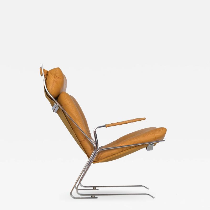 Elsa Nordahl Solheim Vintage Modern Leather Pirate Lounge Chair by Elsa Nordahl Solheim