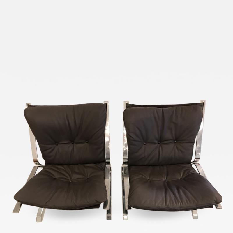 Elsa Nordahl Solheim pair of pirate lounge chairs
