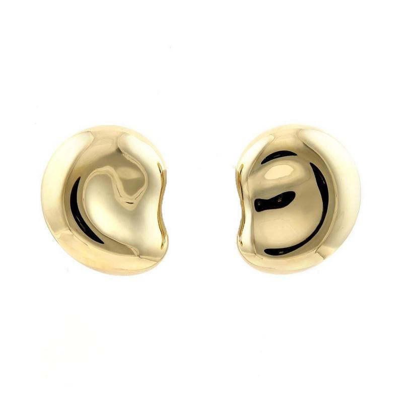 Elsa Peretti Tiffany Co Bean Earrings by Elsa Peretti