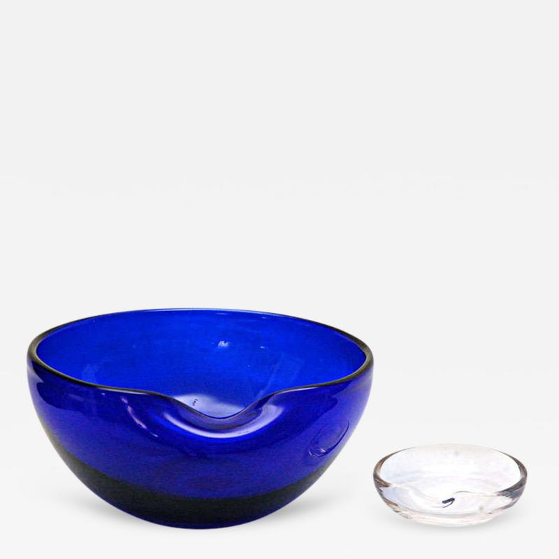 Elsa Peretti Two Thumbprint Bowls by Elsa Peretti for Tiffany Co