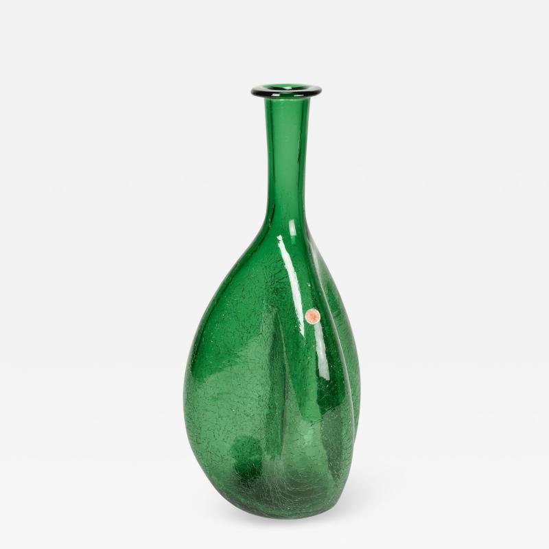 Emboli Vase with Craquel glass Italy 50s