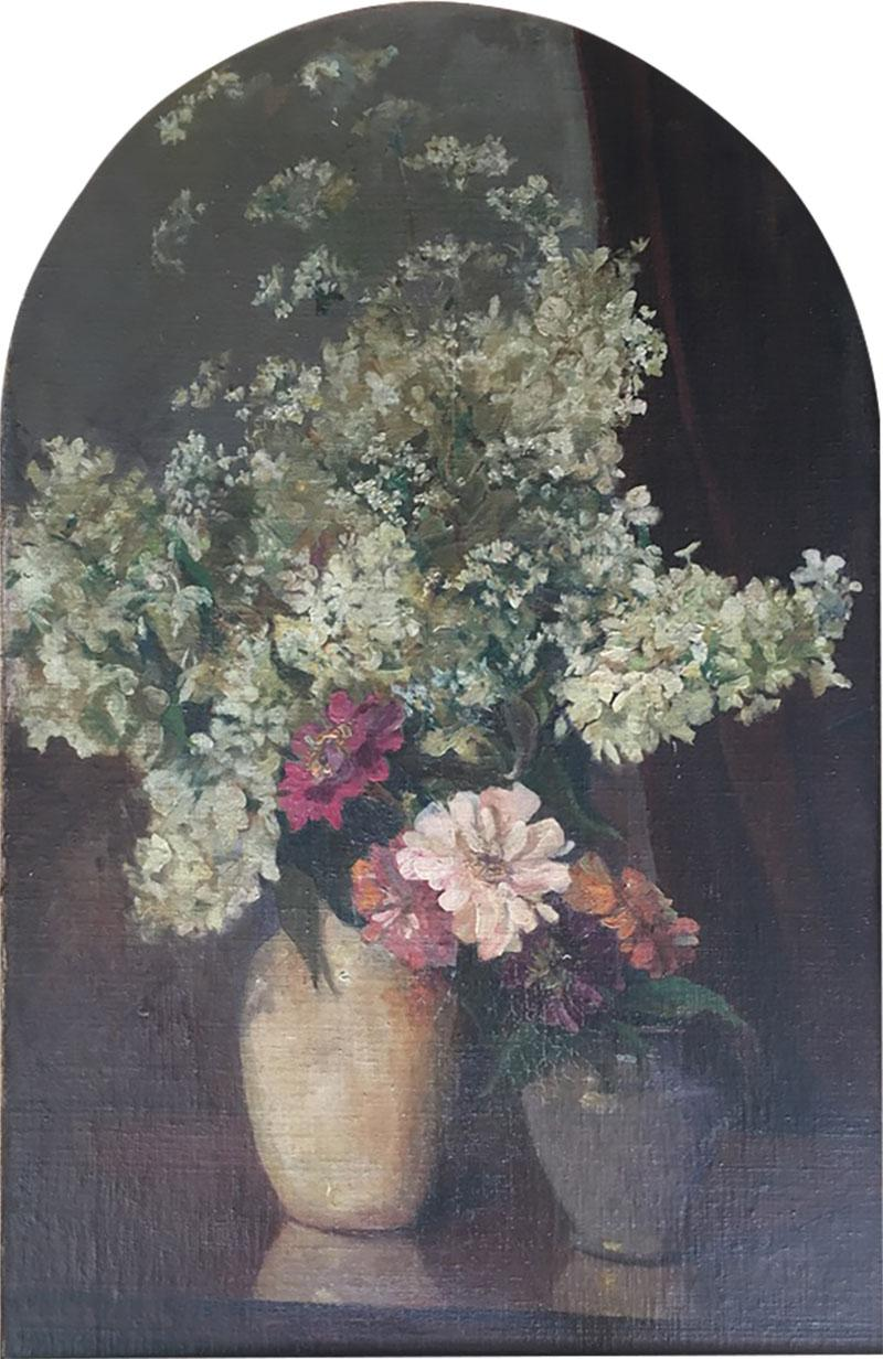 Emil Carlsen Snapdragons and Other Flowers in Two Vases