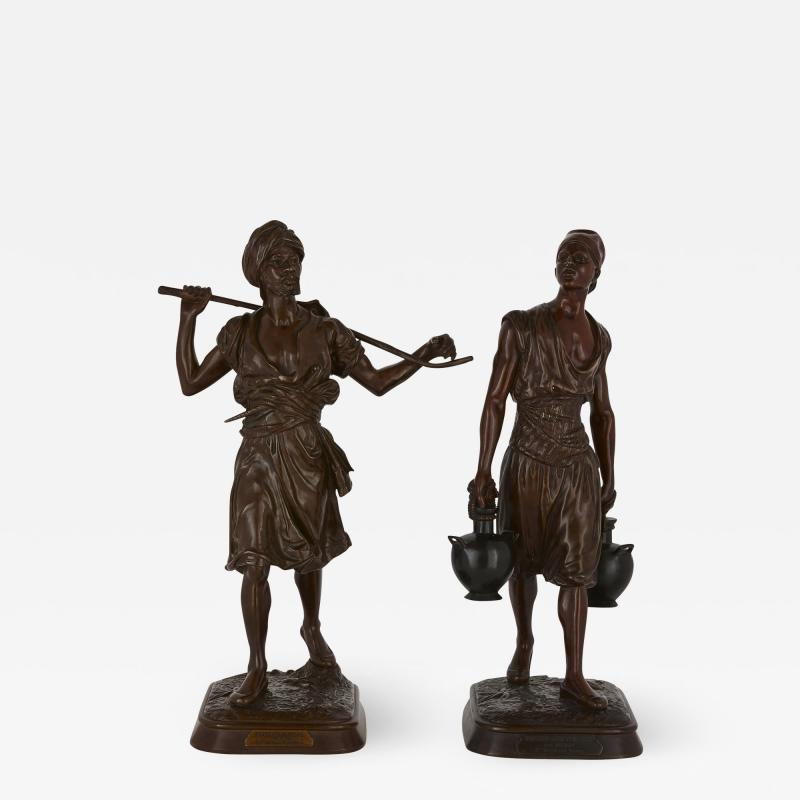 Emile Pinedo Two Orientalist patinated bronze sculptures by Debut and Pinedo