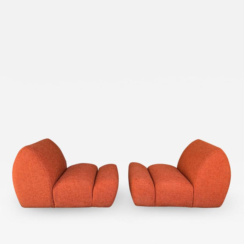Emilio Guarnacci Pair of Paloa Chairs by Emilio Guarnacci for 1P Italy 1970s