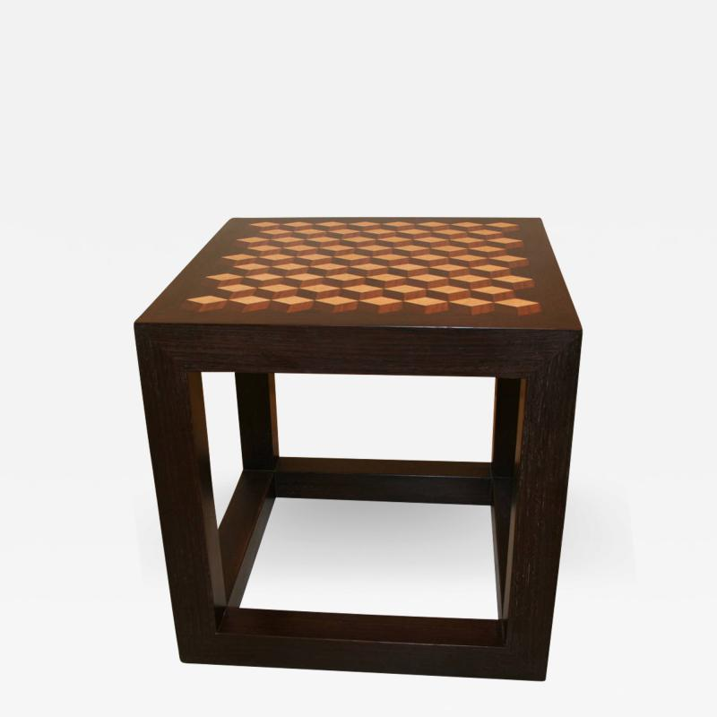 Emily Summers Studio Line Handcrafted End Table with Inlay Detail