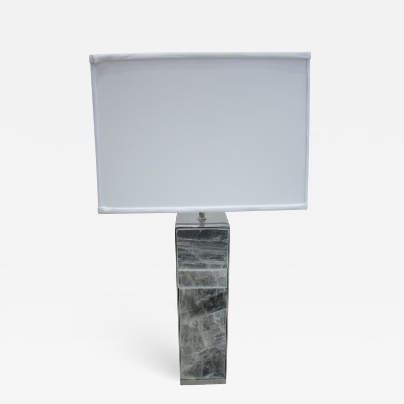 Emily Summers Studio Line Selenite Table Lamp Pair Available