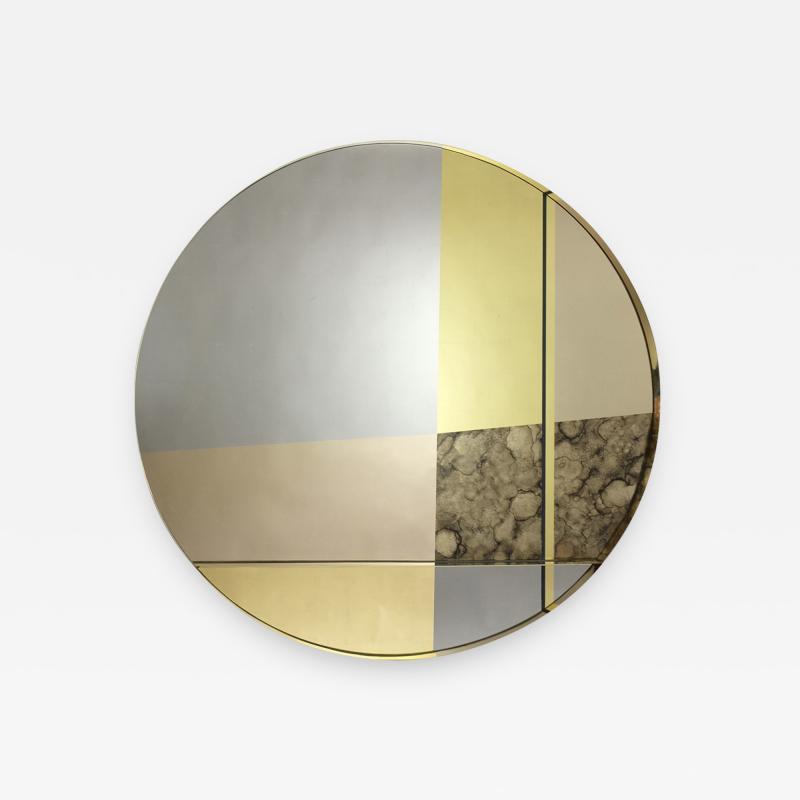 Emma Peascod XL Orbit Braque Wall Mirror by Emma Peascod