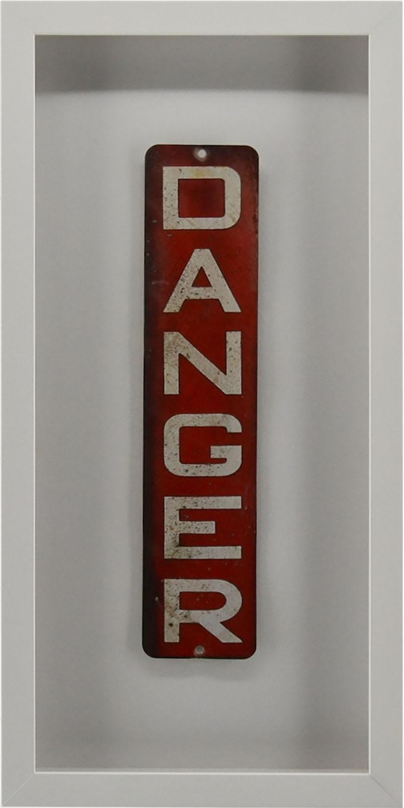 Enamel Danger Sign