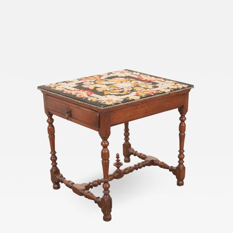 English 18th Century Jacobean Style Oak Side Table