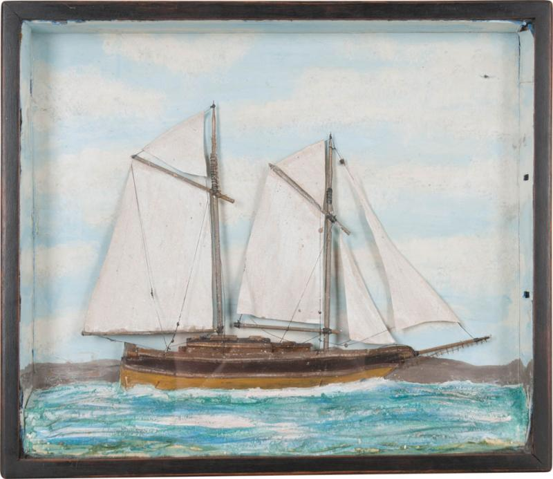 English 19th Century Nautical Diorama