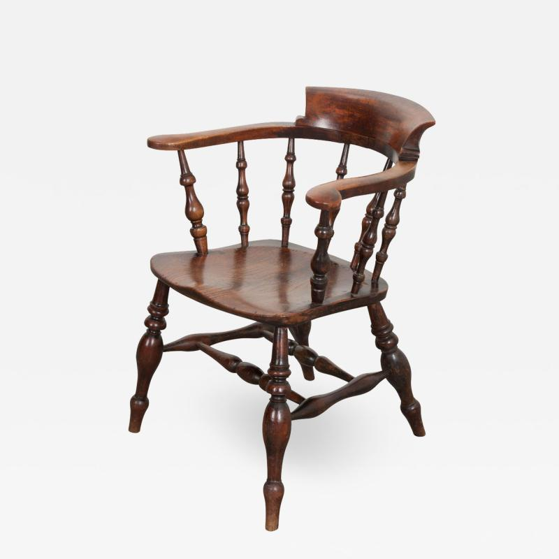English 19th Century Oak Captain s Chair