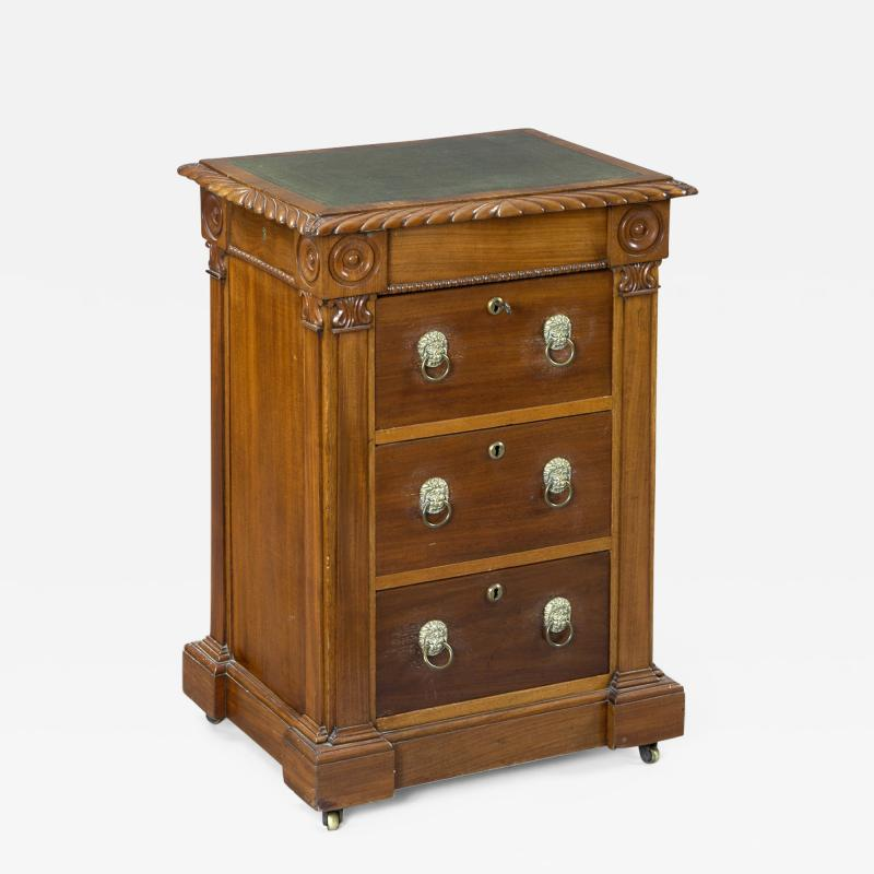 English Antique Late Regency Library Cabinet Desk