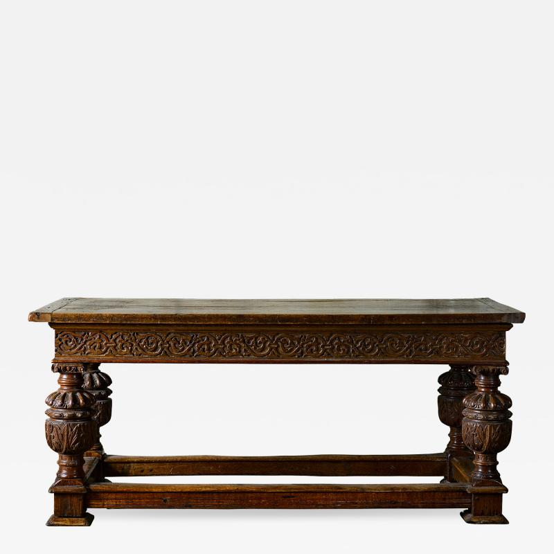 English Carved Oak Table