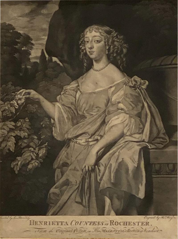 English Engraving Henrietta Countess of Rochester Circa 19th Century