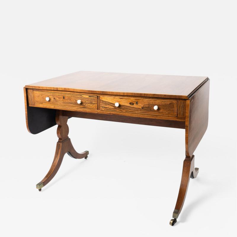 English Georgian Brazilian Rosewood Sofa Table